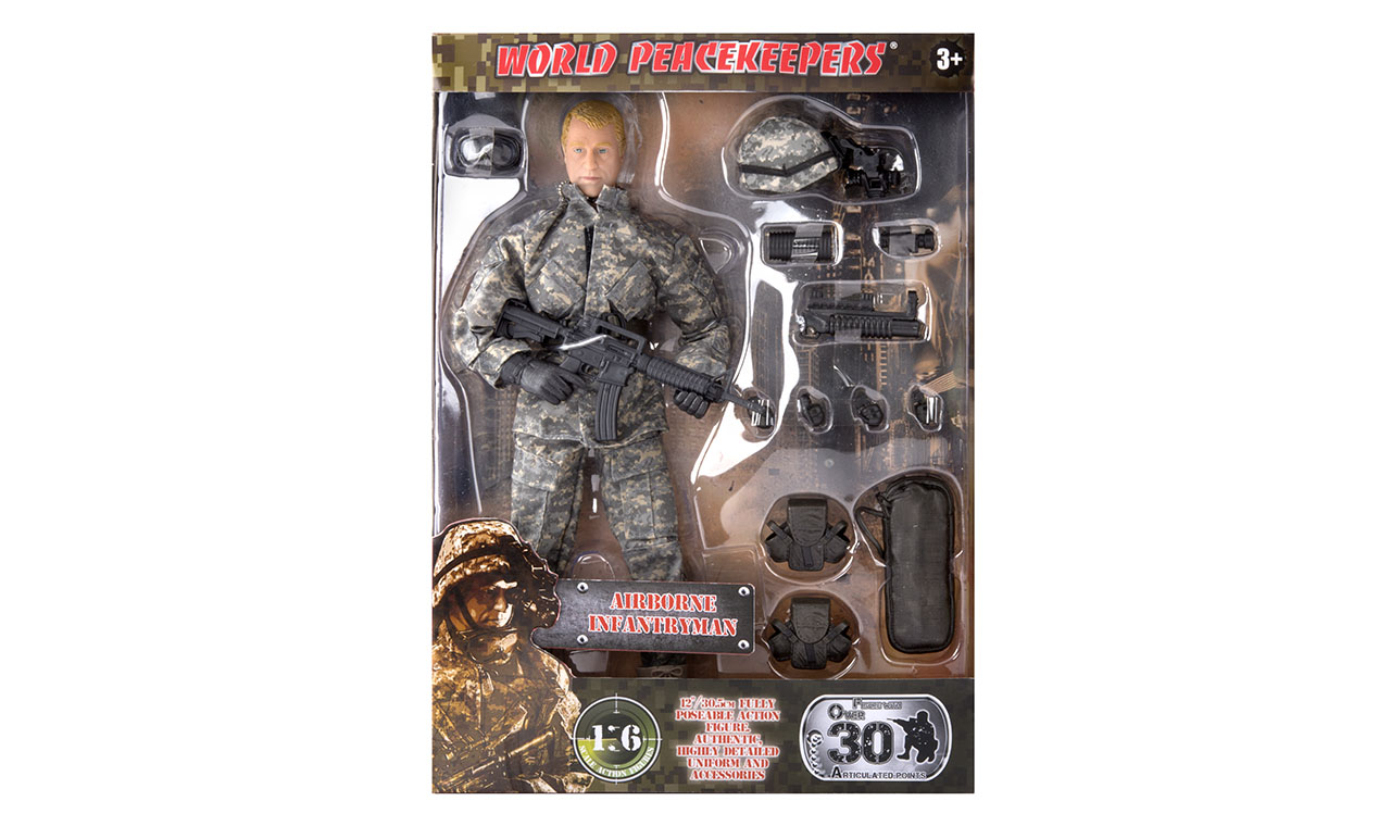 "World Peacekeepers 12/"" Action Figure Power Team Elite Military Soldier New"